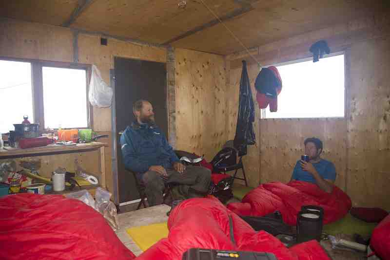 Inside shelter cabin small